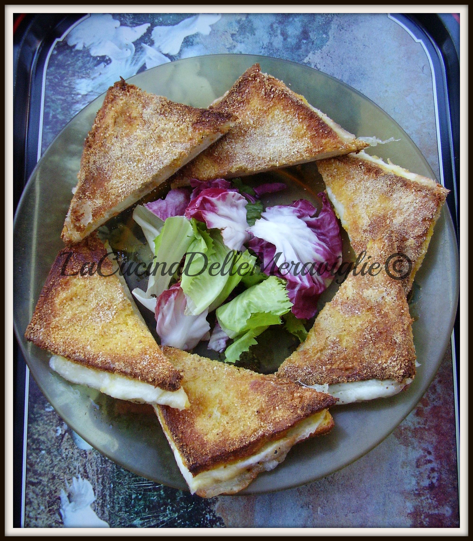 Mozzarella in carrozza light la cucina delle meraviglie for Ricette mozzarella in carrozza al forno