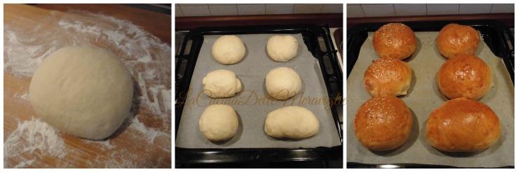 preparazione panini al latte