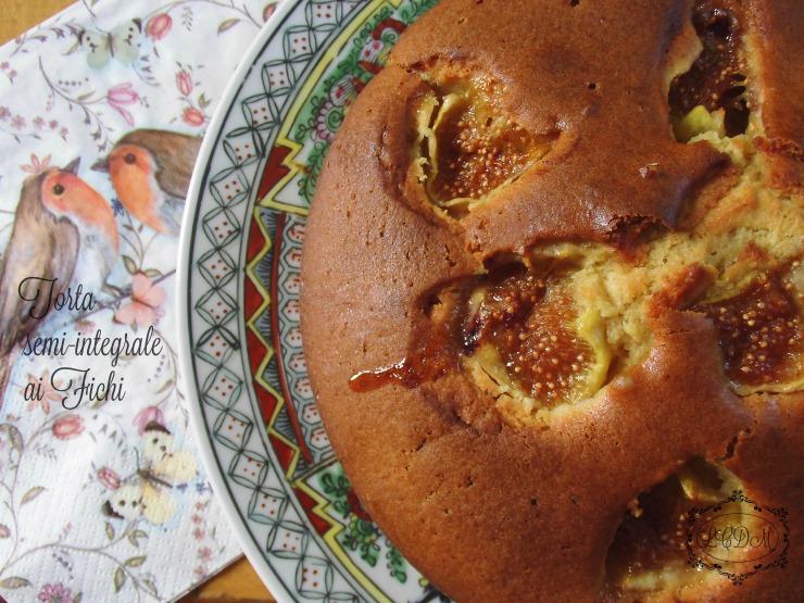 Torta semi-integrale ai fichi